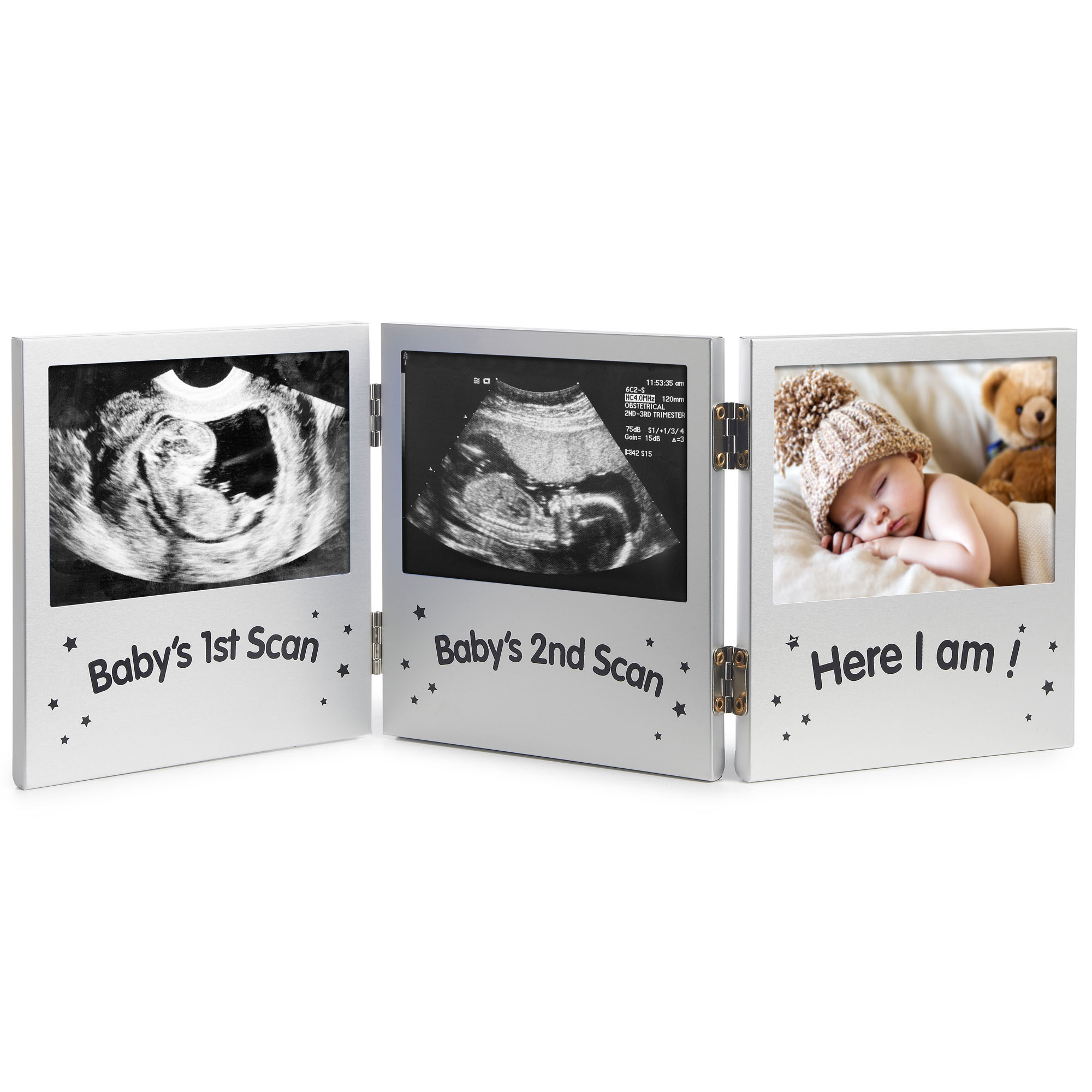 VonHaus Triple Picture Frame Keepsake Ultrasound Sonogram Images ...