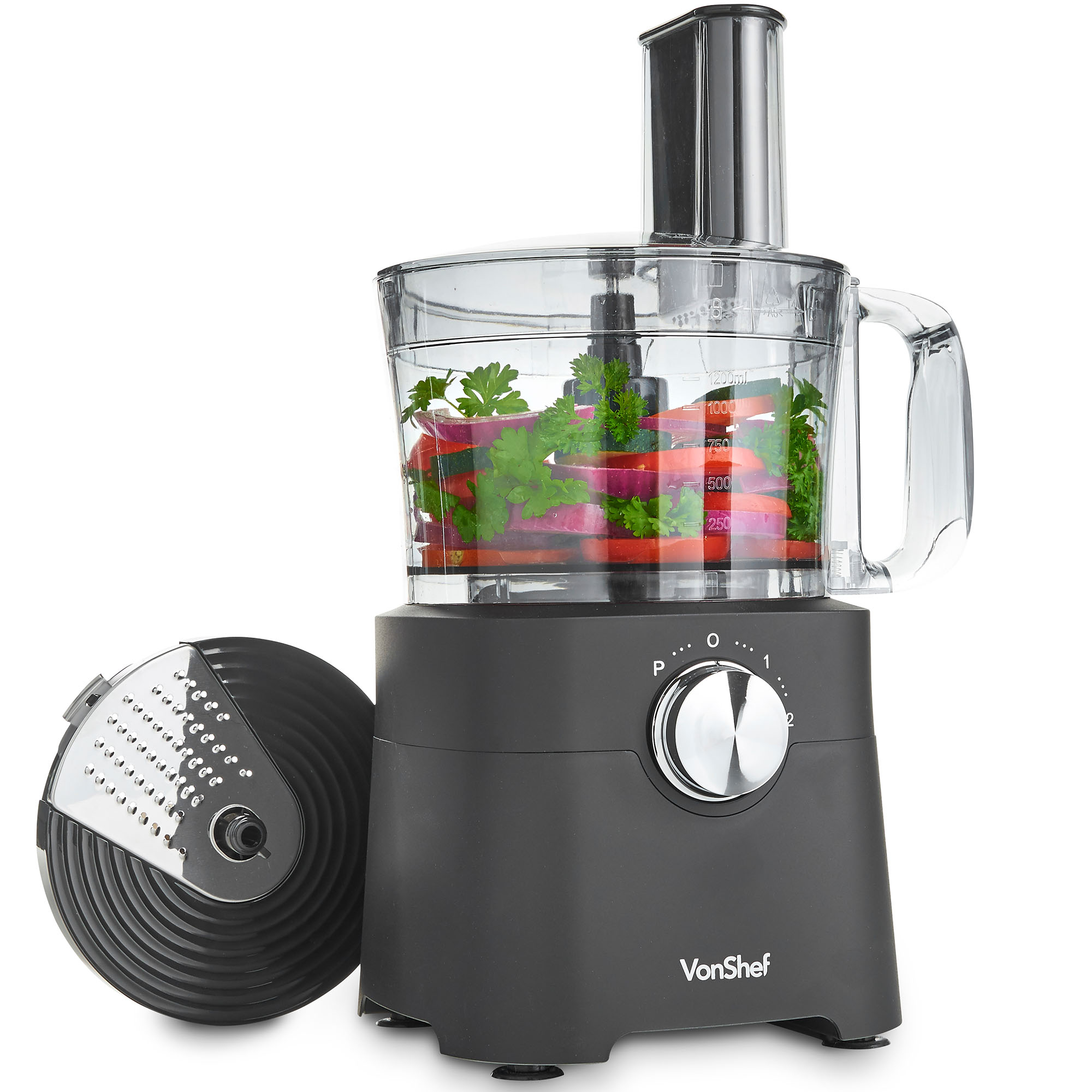 blender and food processor combo. Sentinel VonShef 8 Cup Food Processor \u2013 Blender, Chopper, Multi Mixer Combo 500W - Black Blender And R