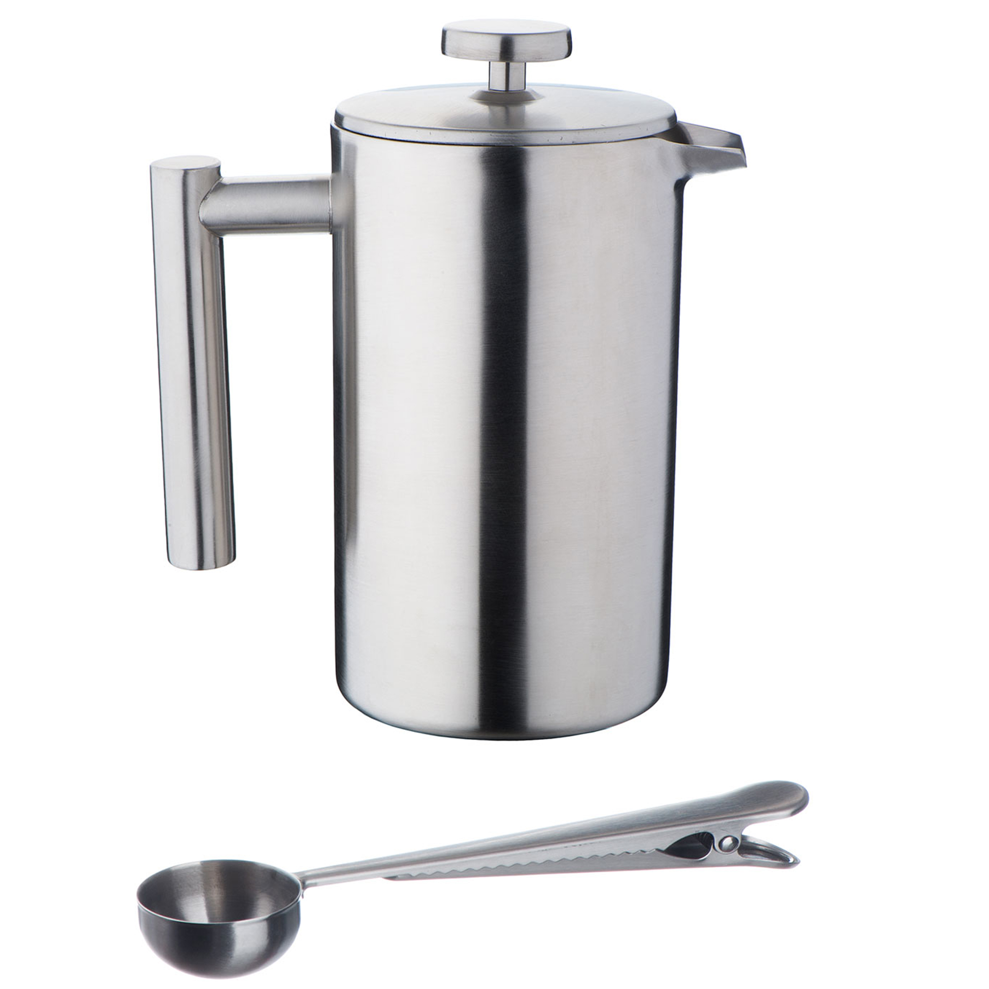 vonshef 3 cup double wall stainless steel french press cafetiere coffee maker 691045294853 ebay. Black Bedroom Furniture Sets. Home Design Ideas