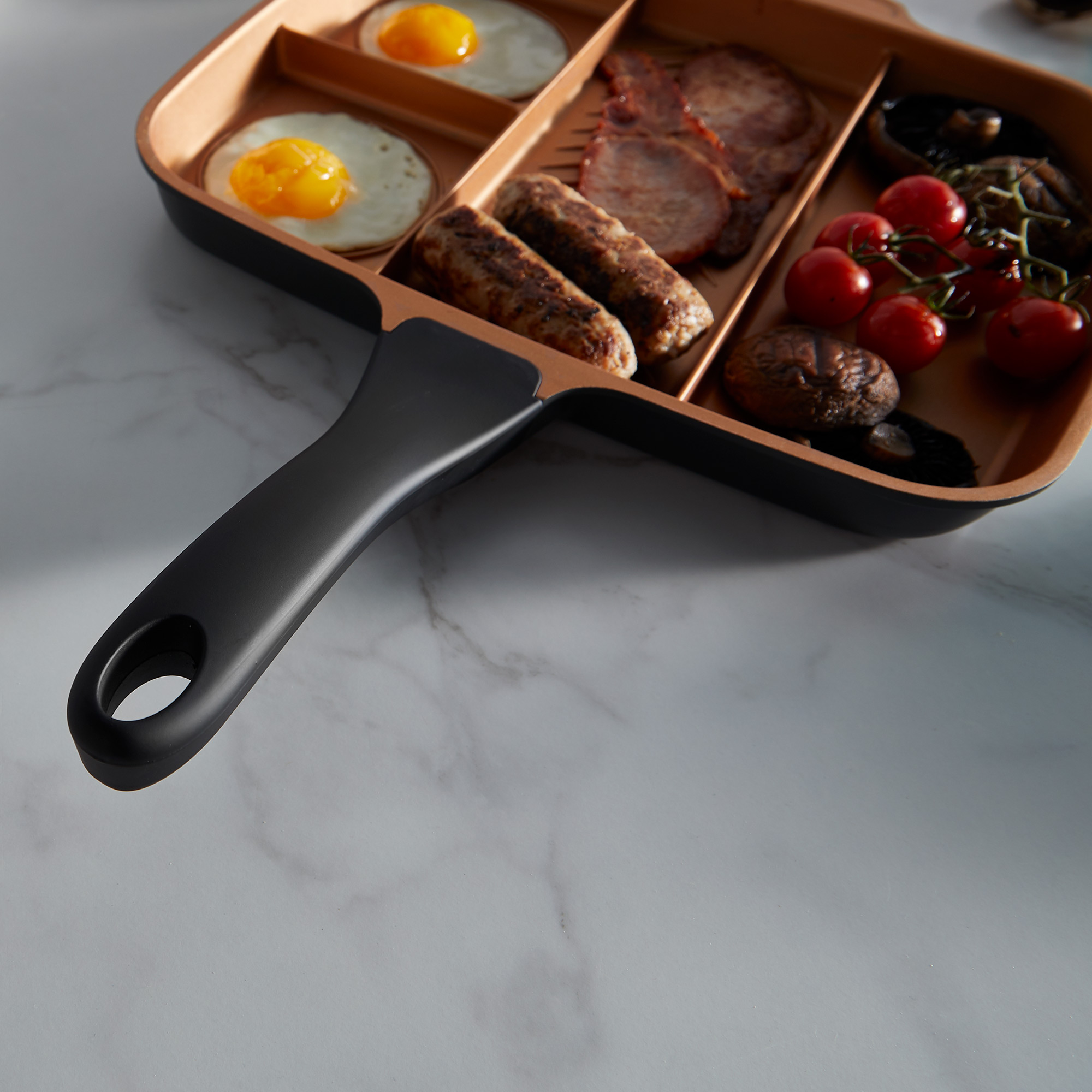 Vonshef 4 In 1 Divided Skillet Breakfast Grill Pan Non