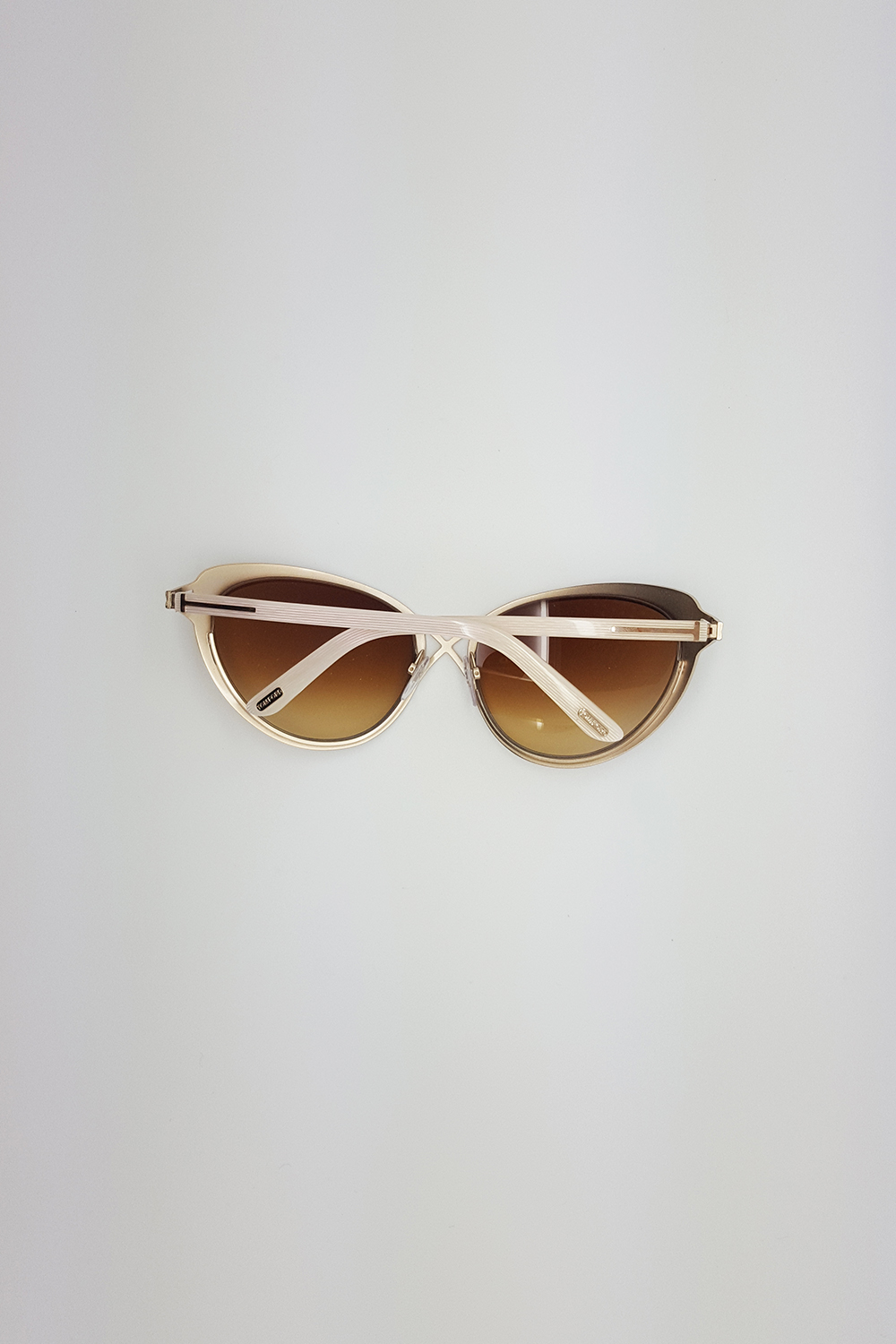 fc5bdc4712 TOM FORD  DARIA CROSSOVER CATS EYE CREAM BROWN SUNGLASSES TF 321 32F ...