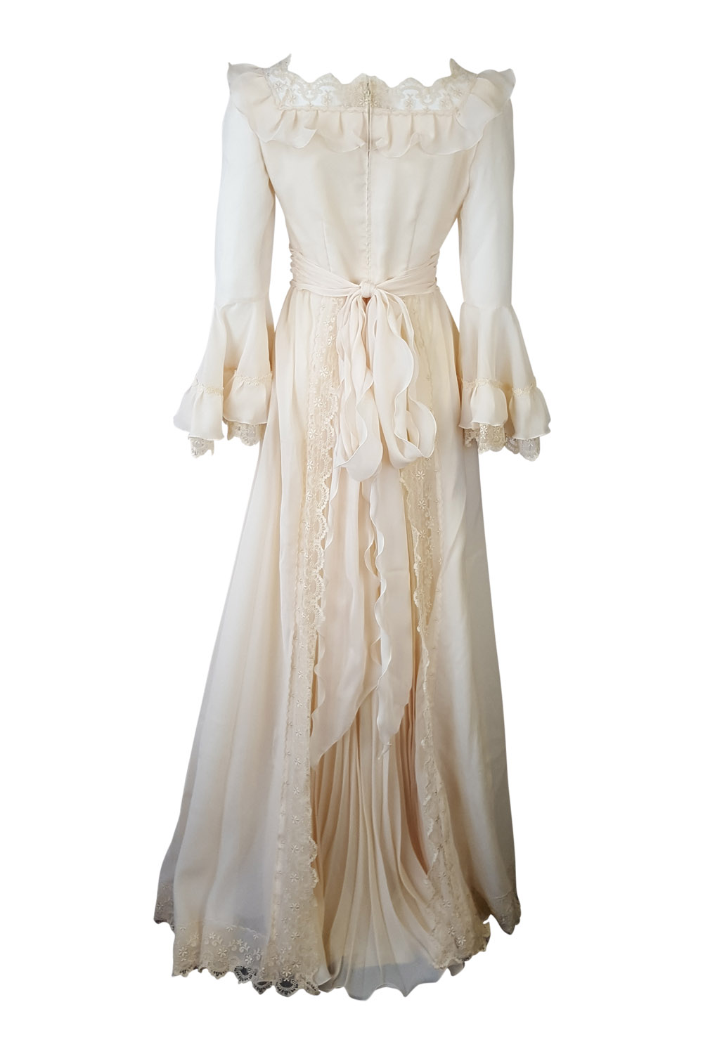 HARRODS* VINTAGE IVORY COTTON BLEND WEDDING DRESS (UK 8) | eBay