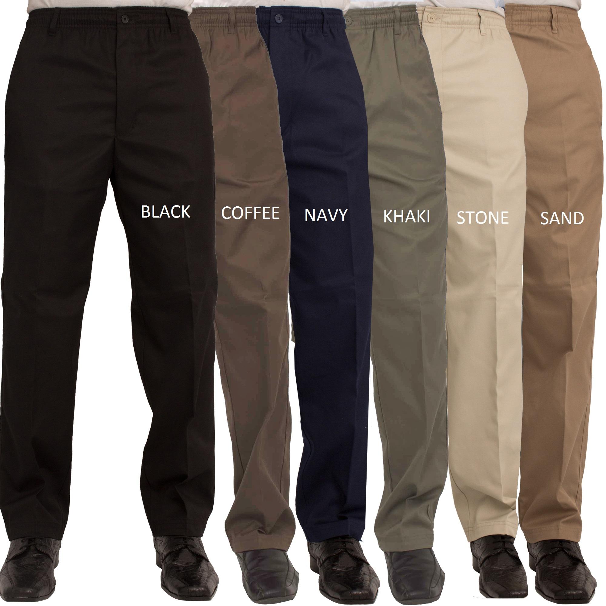 Mens Elastic Waist Jeans