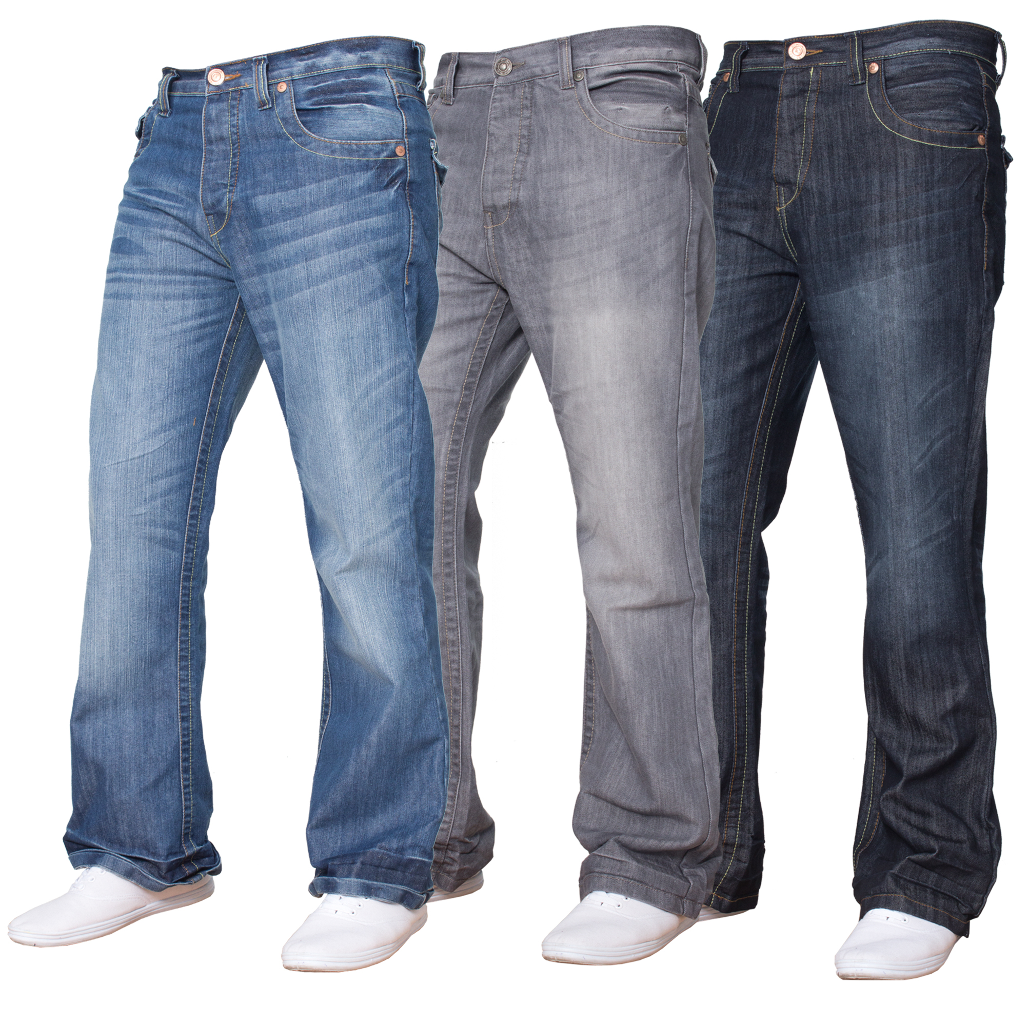 herren apt einfach einfarbig jeans ausgestellt bootcut passform jeans ebay. Black Bedroom Furniture Sets. Home Design Ideas