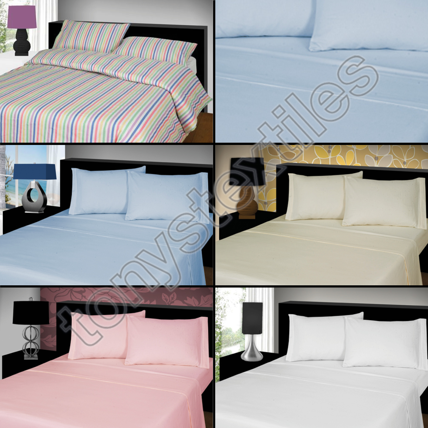 CANDY STRIPE 100/% BRUSHED SOFT COTTON THERMAL FLANELETTE SHEET SET FITTED FLAT /& PILLOWCASES SUPERKING