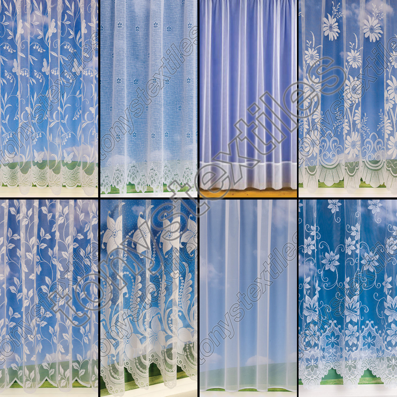 net curtains premium quality plain floral butterfly. Black Bedroom Furniture Sets. Home Design Ideas