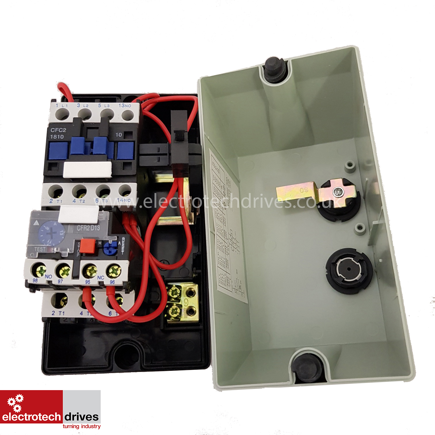 Electric Motor Dol Starter 240v Or 415v Pre Wired Contactor And Machine Wiring Diagram In Addition With Overload 18amp