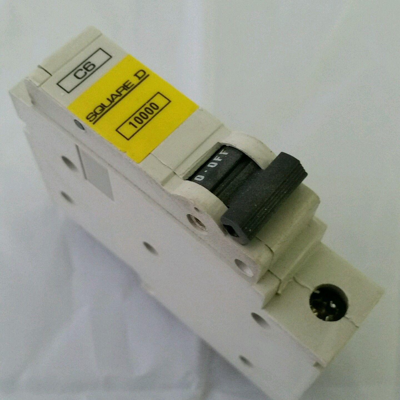SQUARE D 6 AMP TYPE C 10 kA MCB CIRCUIT BREAKER 220//240V QOE BS EN 60898 6000