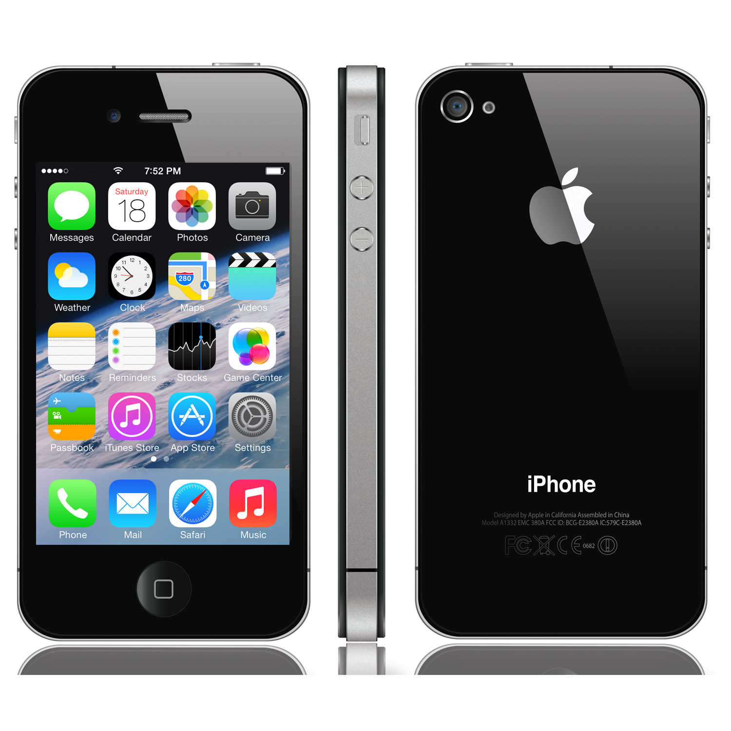 brand new apple iphone 4 8gb unlocked sealed smartphone mobile phone ebay. Black Bedroom Furniture Sets. Home Design Ideas