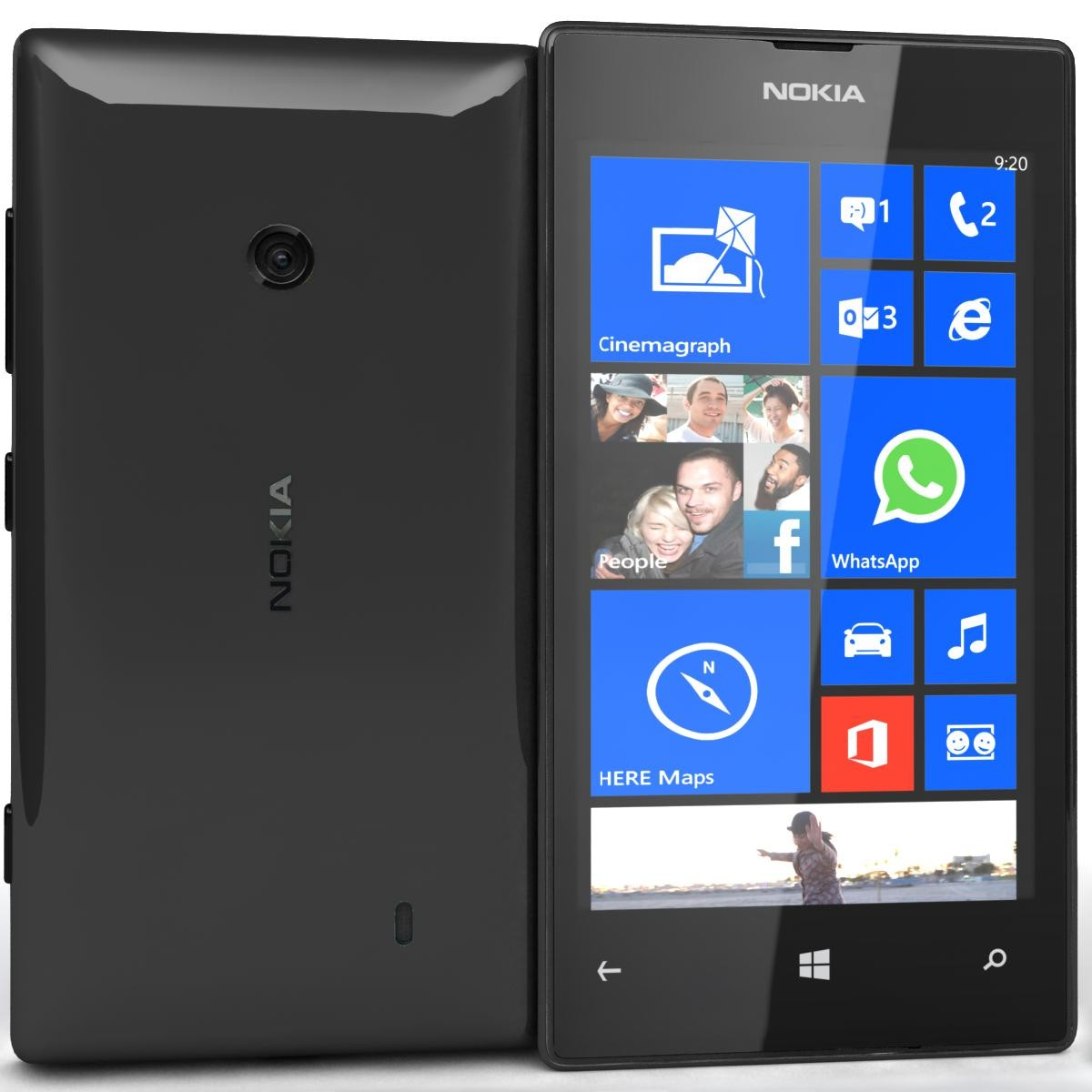 Nokia Lumia 520 8gb Windows Smartphone Mobile All Colours X Dual Sim 4gb Black