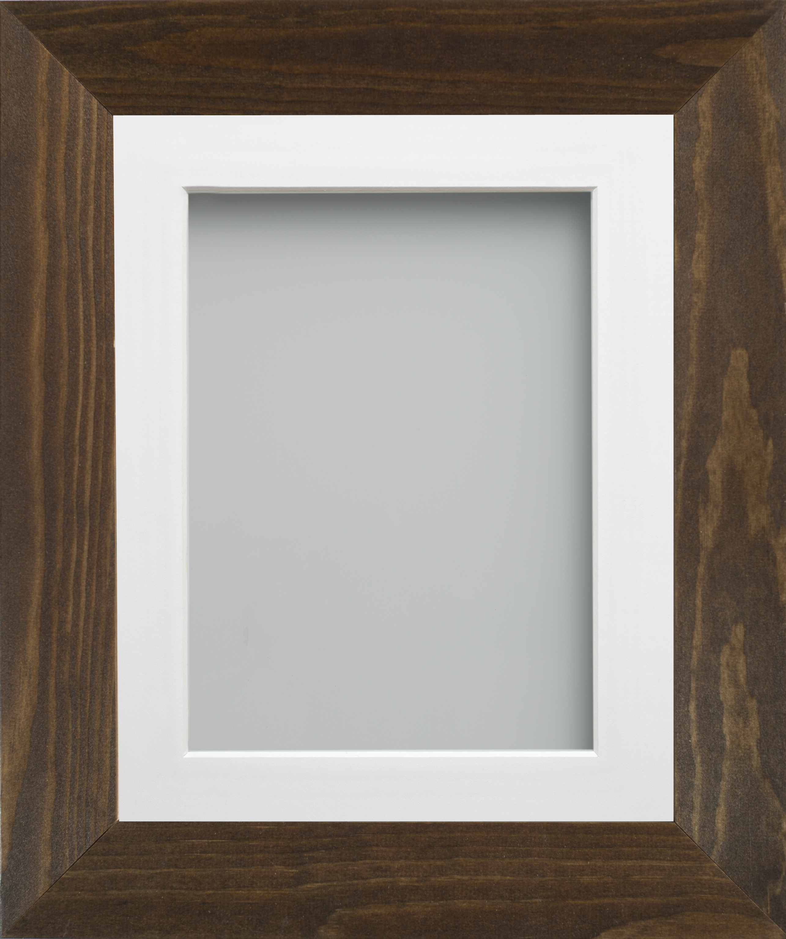 Brown or Golden Oak Large Wooden Picture Photo Frame & Mount   eBay