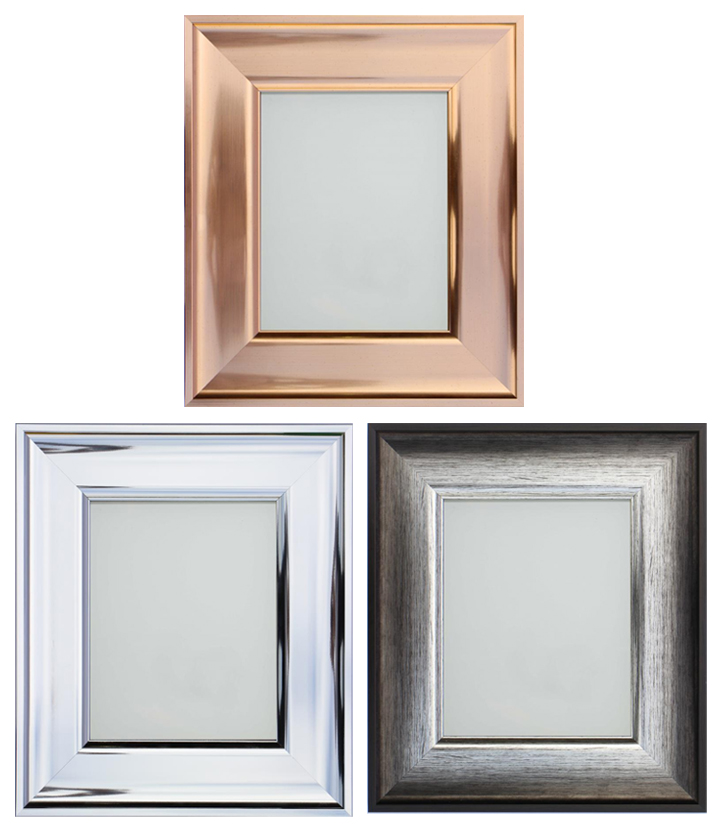 Frame Company Shiny Rose Gold, Silver or Chrome Picture Frame or ...