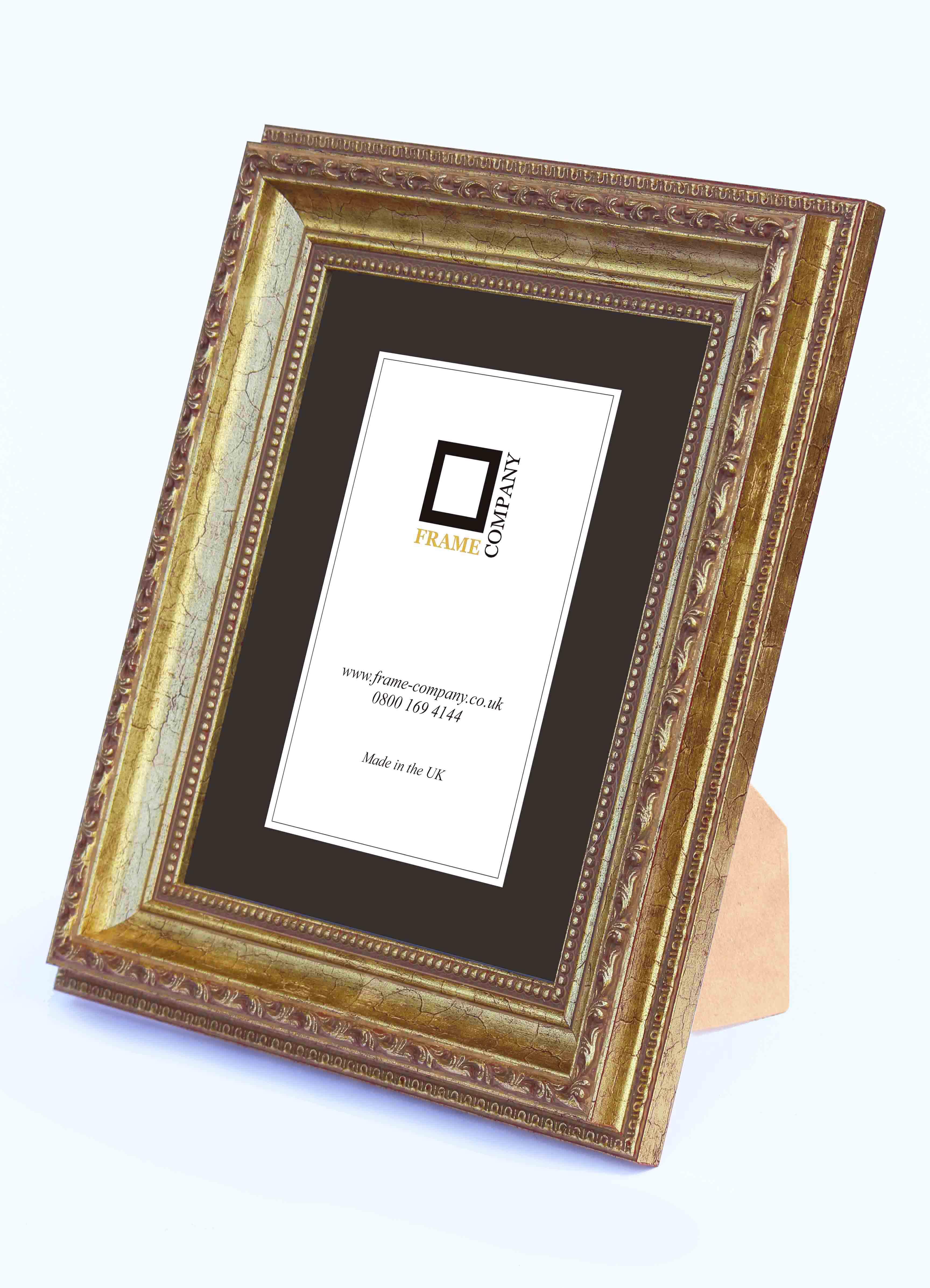 Frame Company Fiorelli GAMA madera barrido Adorno vintage imagen ...