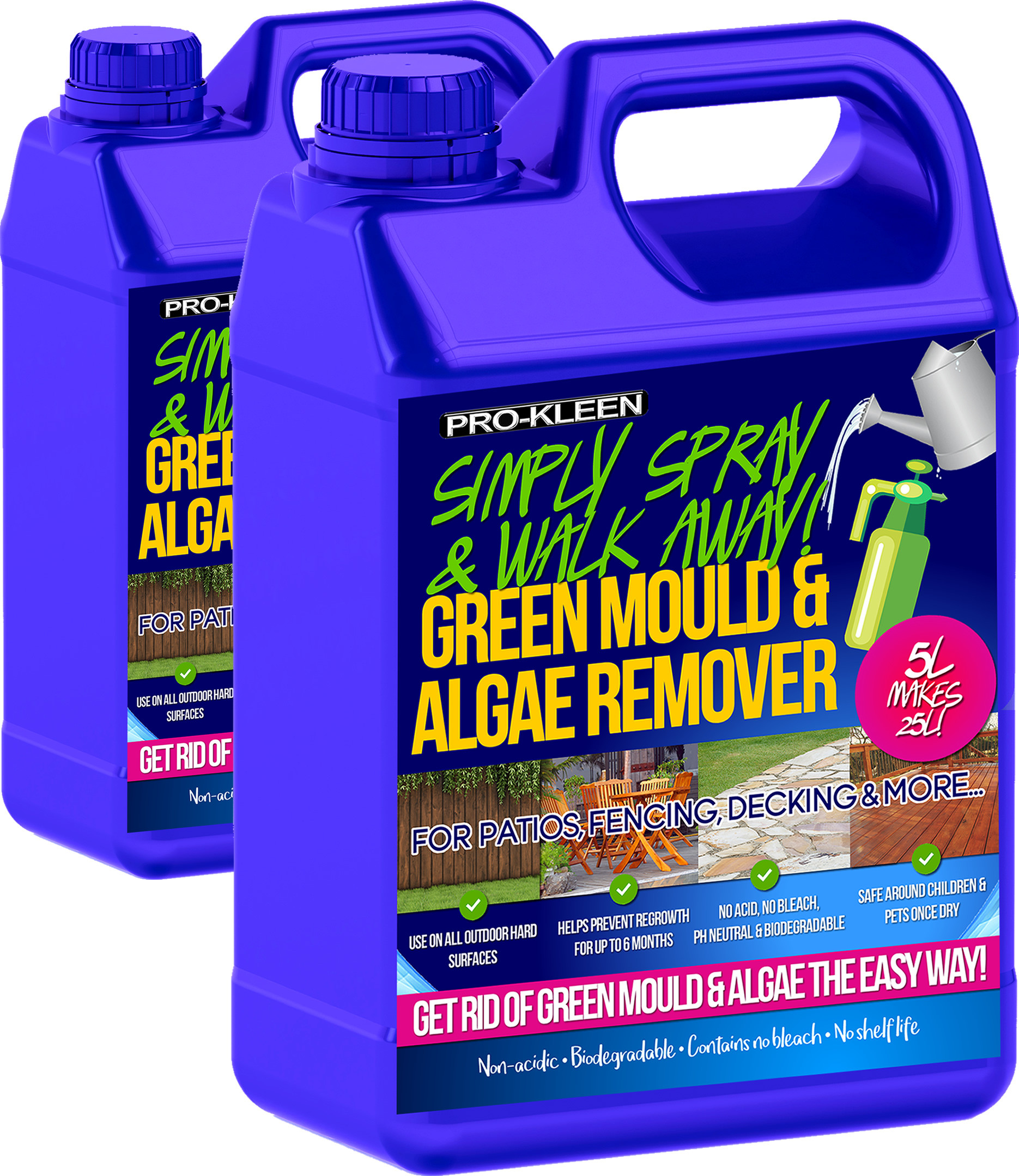 Details about Patio Decking Fencing Moss Green Mould Algae Killer Remover  Cleaner Magic 10L