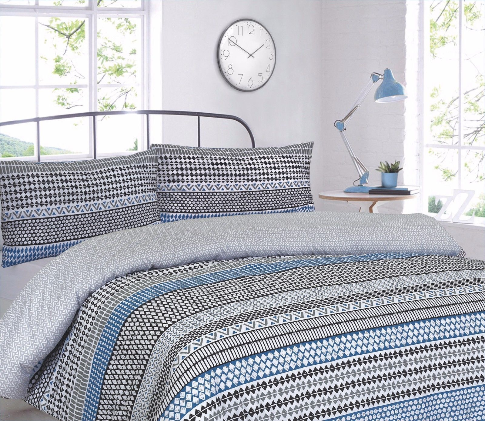 Artisan Duvet Cover Reversible Quilt Bed Set with Pillowcases Single Double King