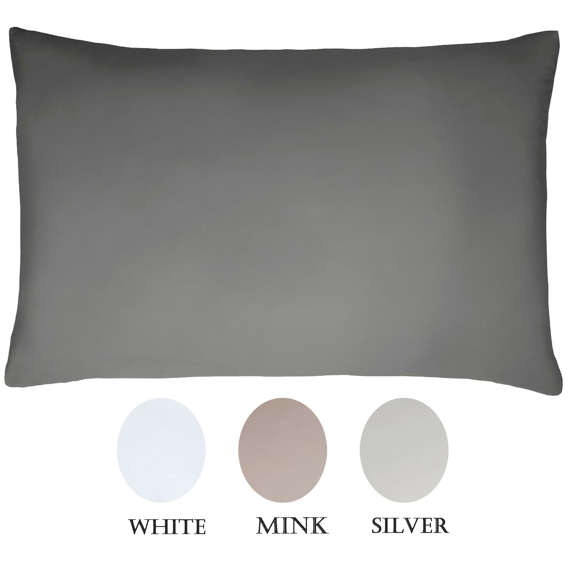 Sleepdown 100 Cotton Sateen 300 Thread Count Housewife Pillowcase Pair Ebay