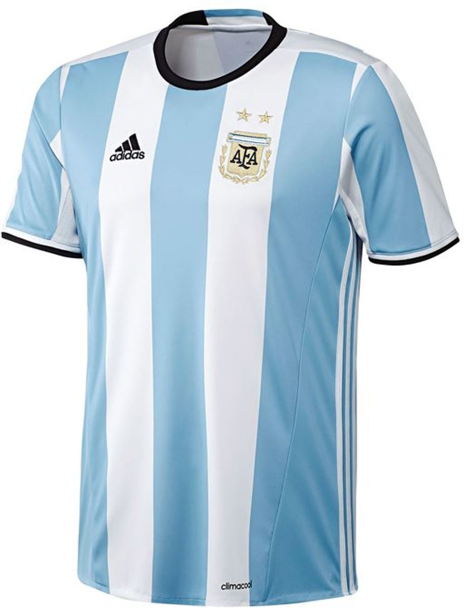 Details zu Adidas Argentinien Heim Trikot Afa Weiß Blau Fußball World Cup Herren Ausverkauf