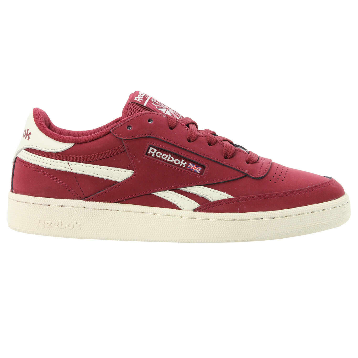 Details zu REEBOK MEN'S CLASSICS REVENGE PLUS TRAINERS SUEDE BURGUNDY SHOES SNEAKERS RED