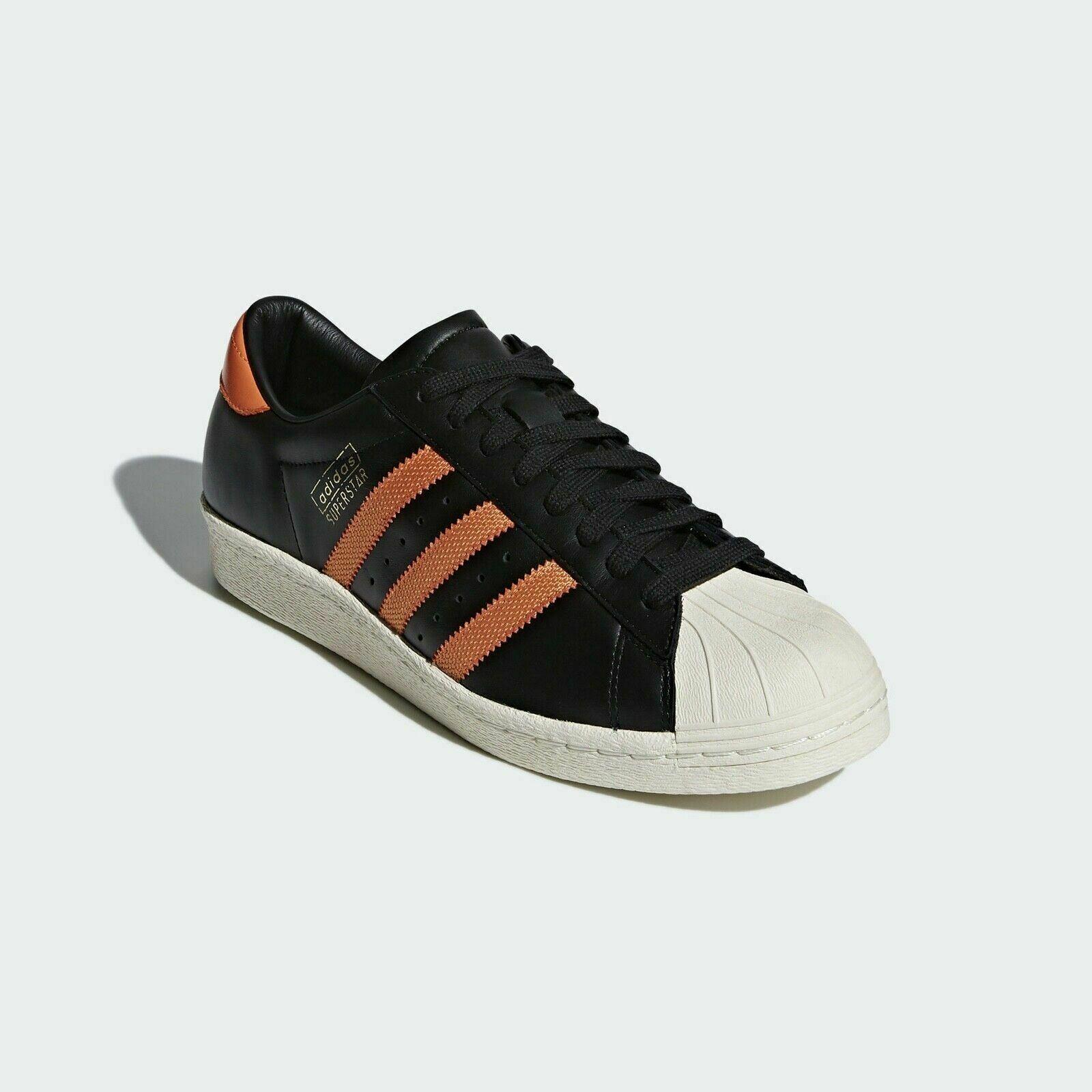 Détails sur Adidas Originaux Superstar 80S Og Baskets Noir Orange Baskets Rétro Neuf