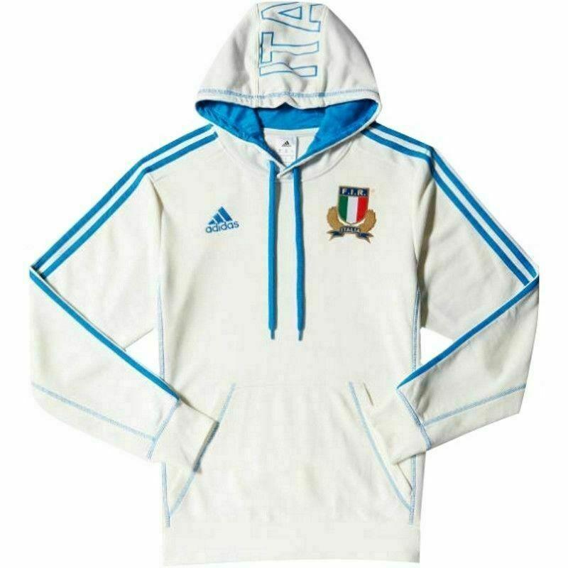 Dettagli su felpa adidas Vintage uomo zip Italia Rugby