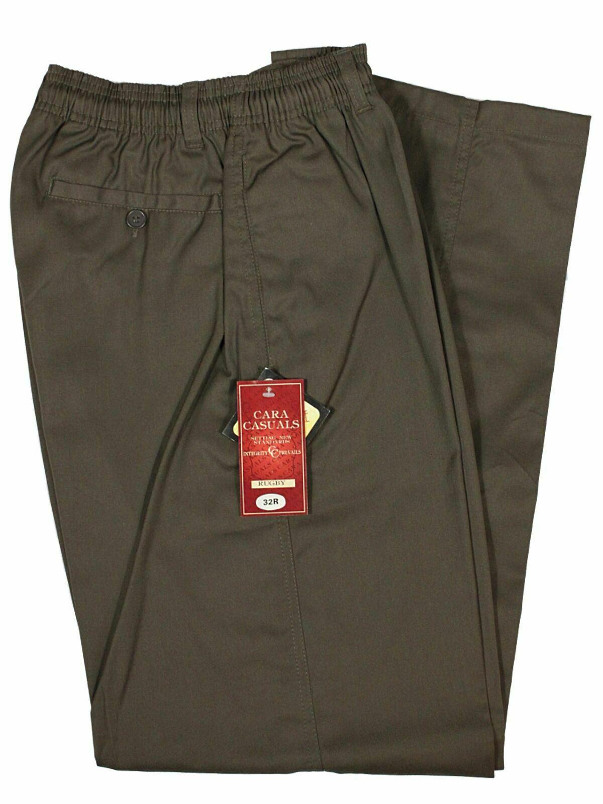 "Carabou Extra Long Leg 36/"" Mens Black Trousers,Smart Casual Formal Pant Bottoms"