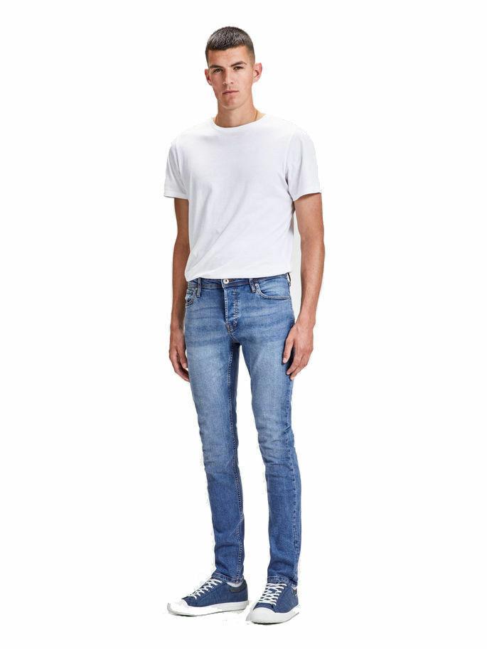 Jack /& Jones Men/'s Glenn Slim Fit Skinny knee Jeans Black Grey Blue size 28-36