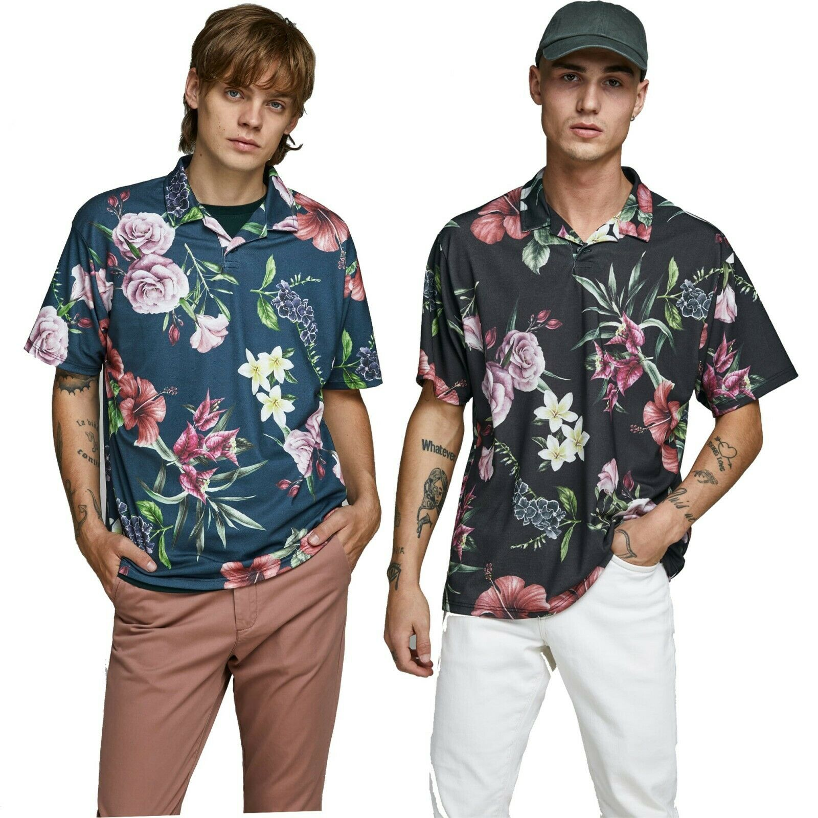 Brand New Jack /& Jones Mens T Shirts Logo Printed Short Sleeve Designer Tee
