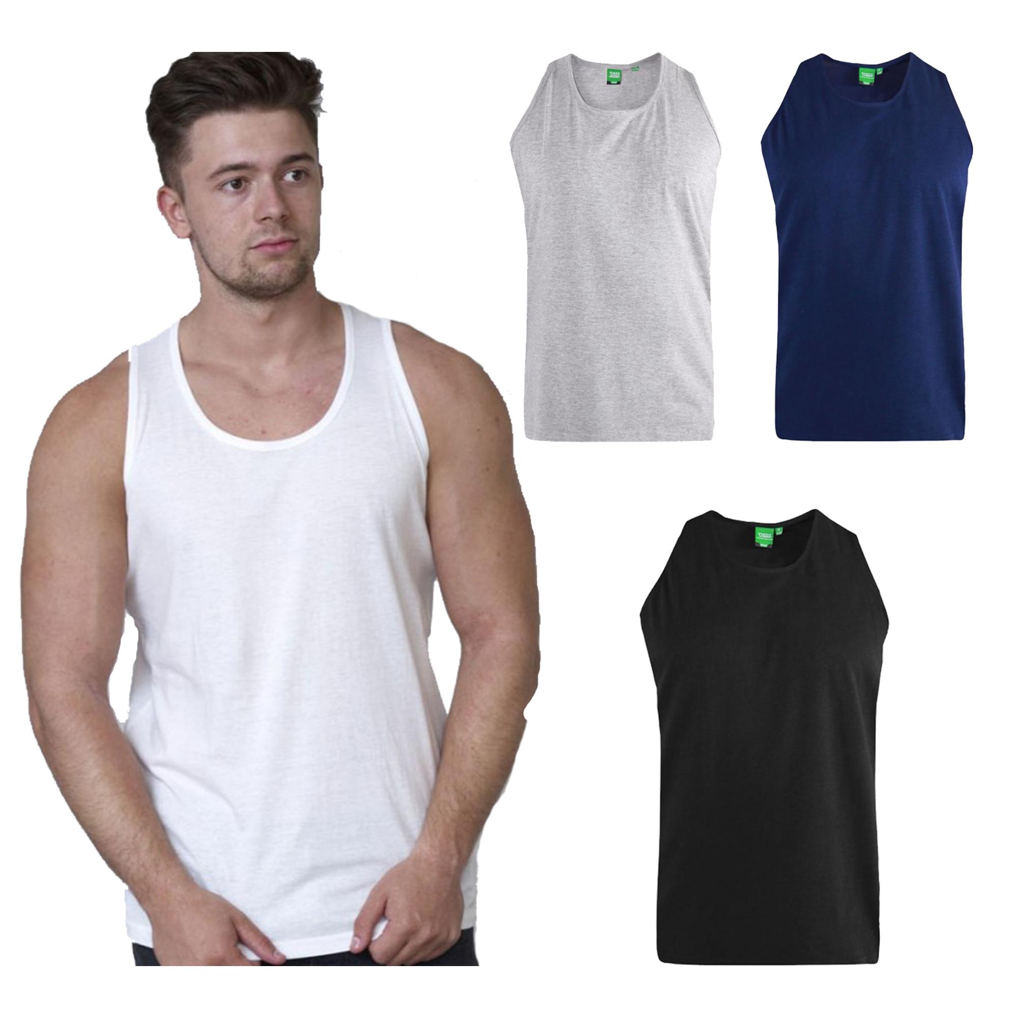 Duke D555 Mens Fabio Vest Large King Size Muscle Sleeveless Shirt Tee Tank Top