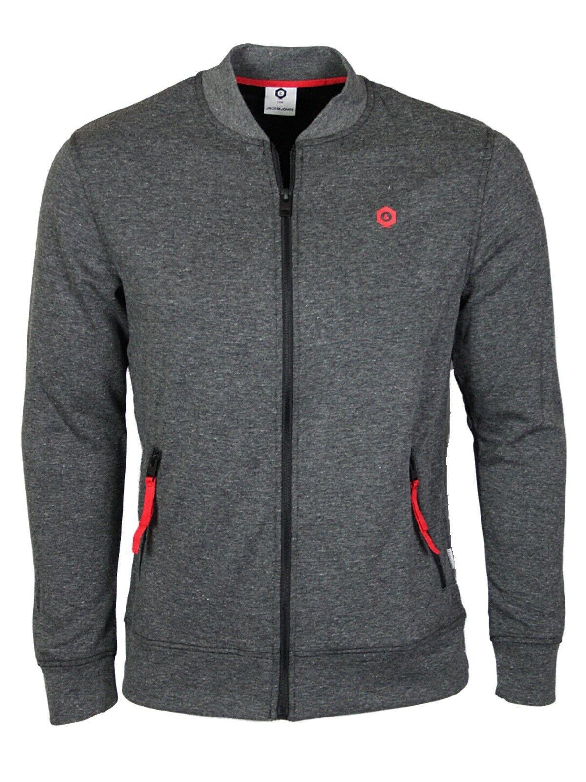 Jack /& Jones Men/'s Zip Up Hoodies Sweat Cardigan Jacket All Sizes XS to XL