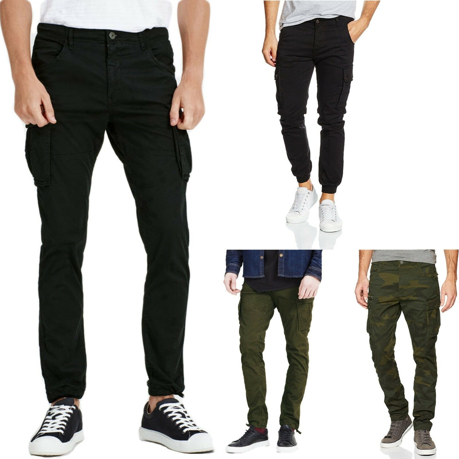 Jack Jones Men/'s Chino Trousers Olive Night Casual XXL Brand New FREE DELIVERY