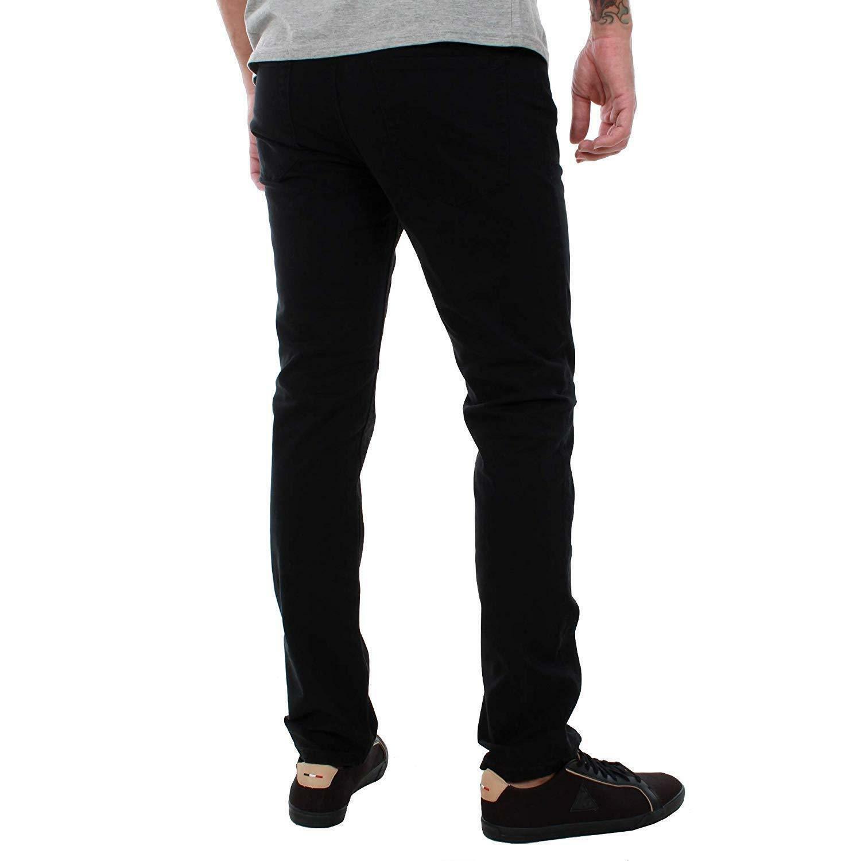 Nuevo Jack Y Jones Para Hombre Entallado Jeans Stretch Denim Basic 5 de Bolsillo Negro Azul