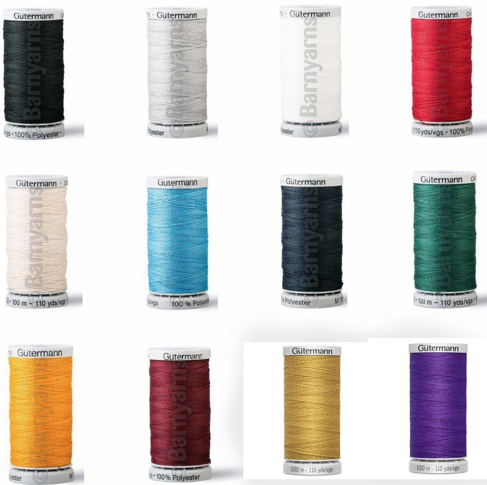 100/% Polyester 5 Assorted Colour Set Gutermann Extra Strong Upholster Thread