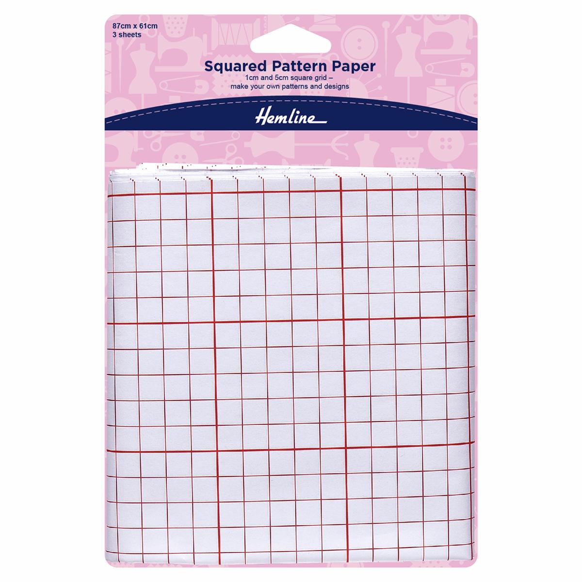 Squared Pattern Paper Dressmaking Sewing Design Cutting 87cm x 61cm 3 Sheets
