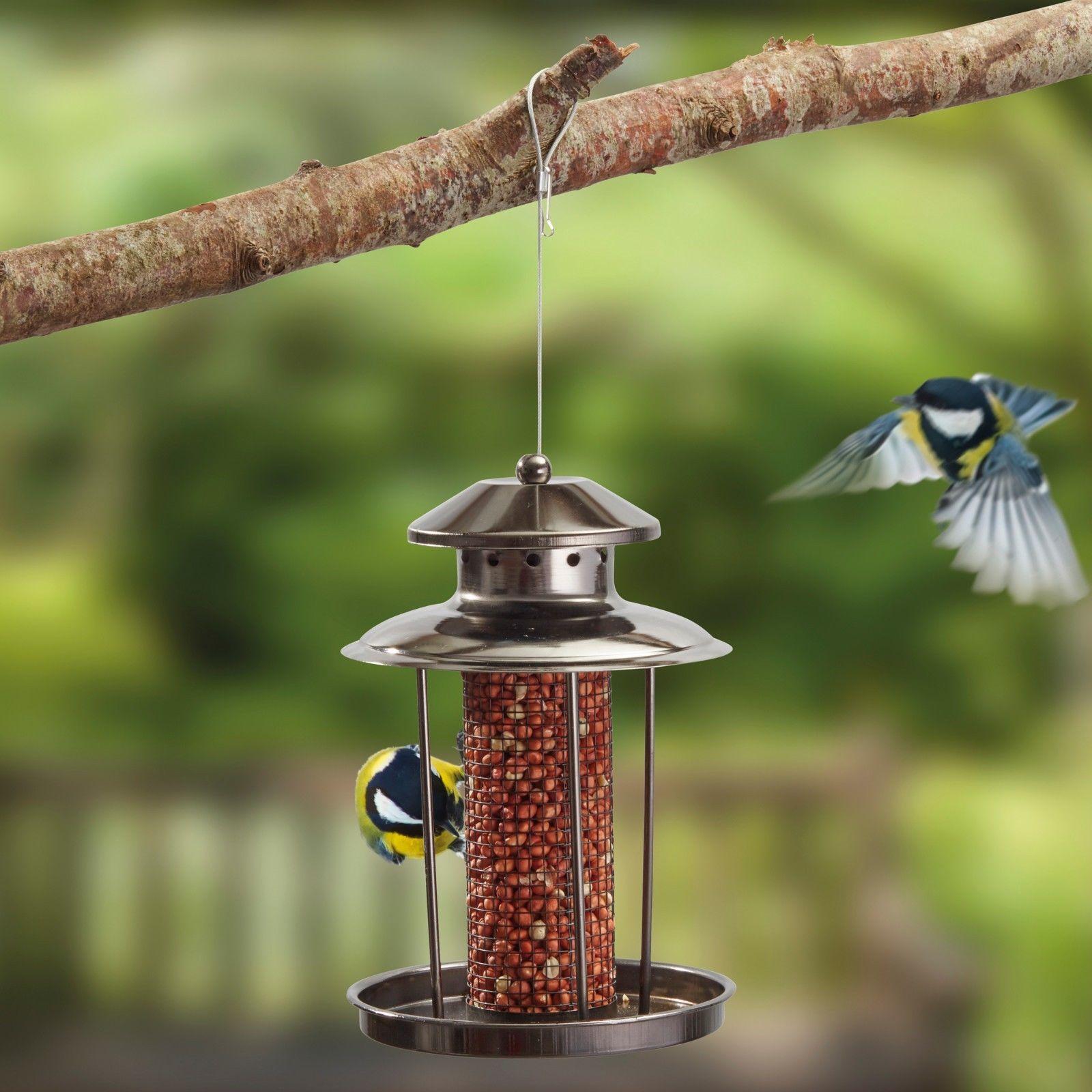 Happy Beaks SUPA X-1 Squirrel Proof Wild Bird Feeder Hanging Feeding Station for Garden Birds