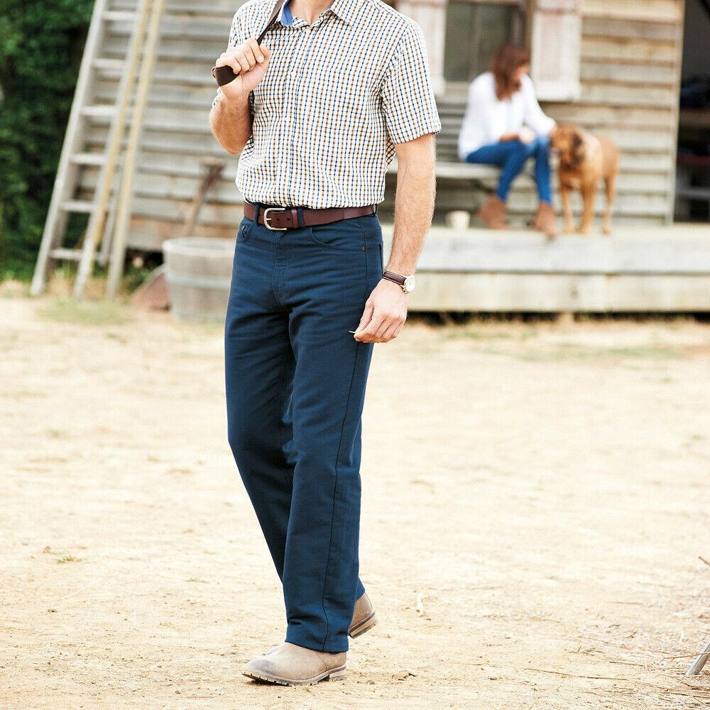 "Samuel Windsor Cavalry Twill Cotton Trousers Smart Casual Menswear 32-44/"" NEW"